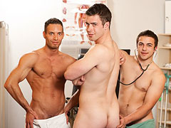Petr, Martin and Artur gay clinic examination