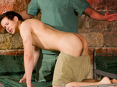 Kristof Hertz is a very good looking guy, with an excellent body. He came in for a spanking. We join things as two patients are in bed. Nurse Miro arrives and begins to check them. Firstly Franky, who...