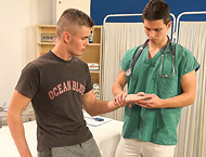 Filip and Miro gay clinic examination