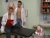 Two doctors explore each other's hot bodies as they suck and fuck together